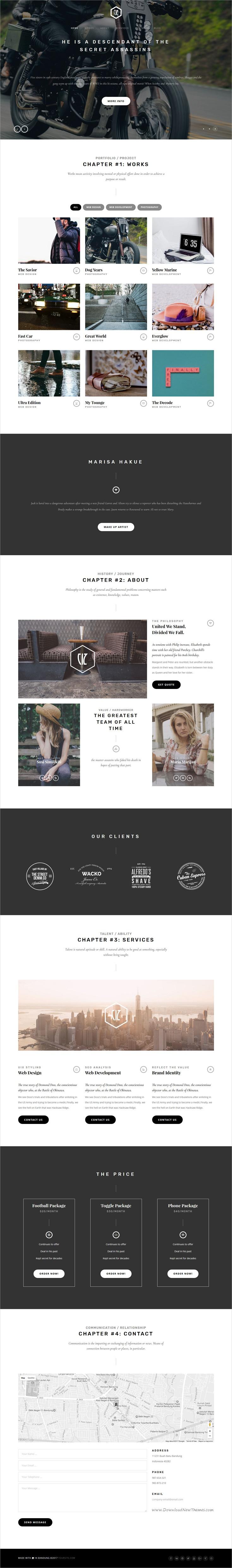 Cizarua - Responsive One Page Portfolio Template