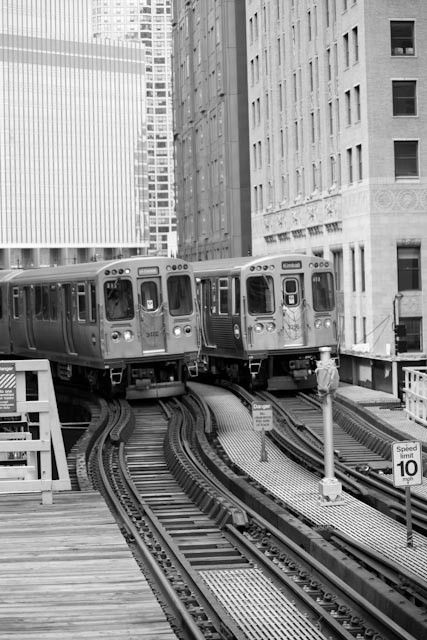 """Awesome picture of the Chicago """"L"""" train - Bobby's office"""