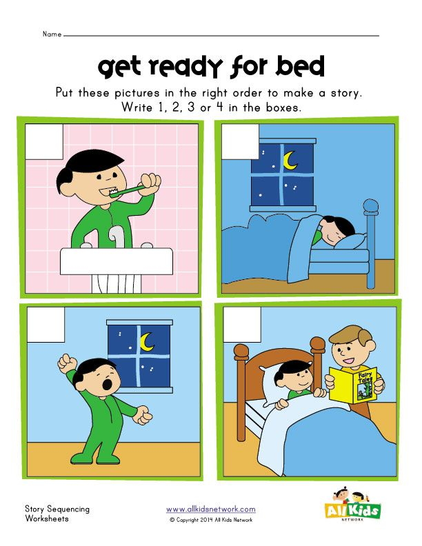 sequencing worksheet - bed time | In the Nighttime ...