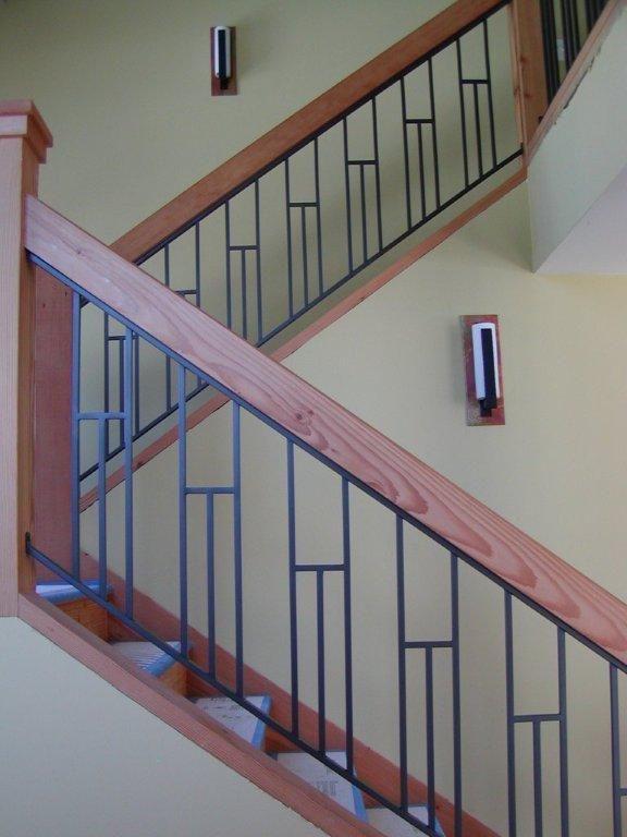 Custom Interior Iron Railing Interior Railings Staircase Design