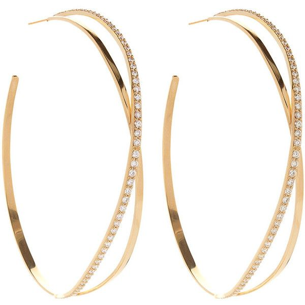 Lana Jewelry Flawless Large Teardrop Hoop Earrings with Diamonds 9X3I4Huxg