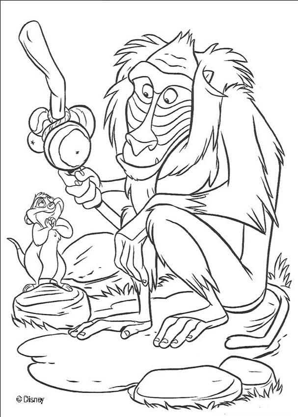 the lion king coloring pages rafiki the monkey