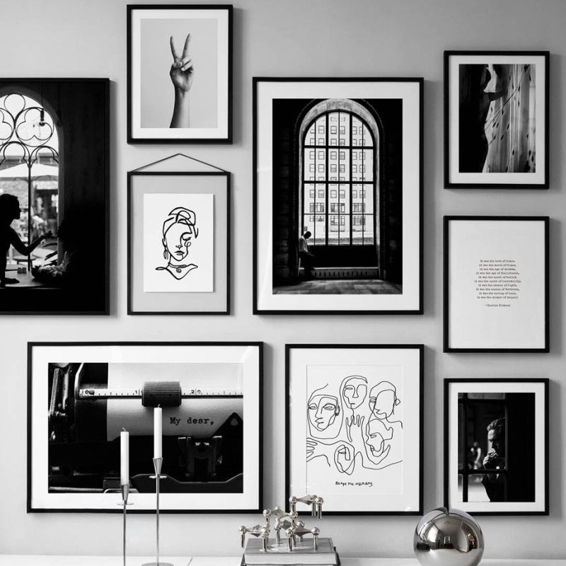 Black White Vintage Poster Abstract Line Nordic Posters And Prints Wall Art Canvas Painting Wall Pictures For Living Room Decor Art Gallery Wall Wall Art Canvas Painting Gallery Wall Art Prints