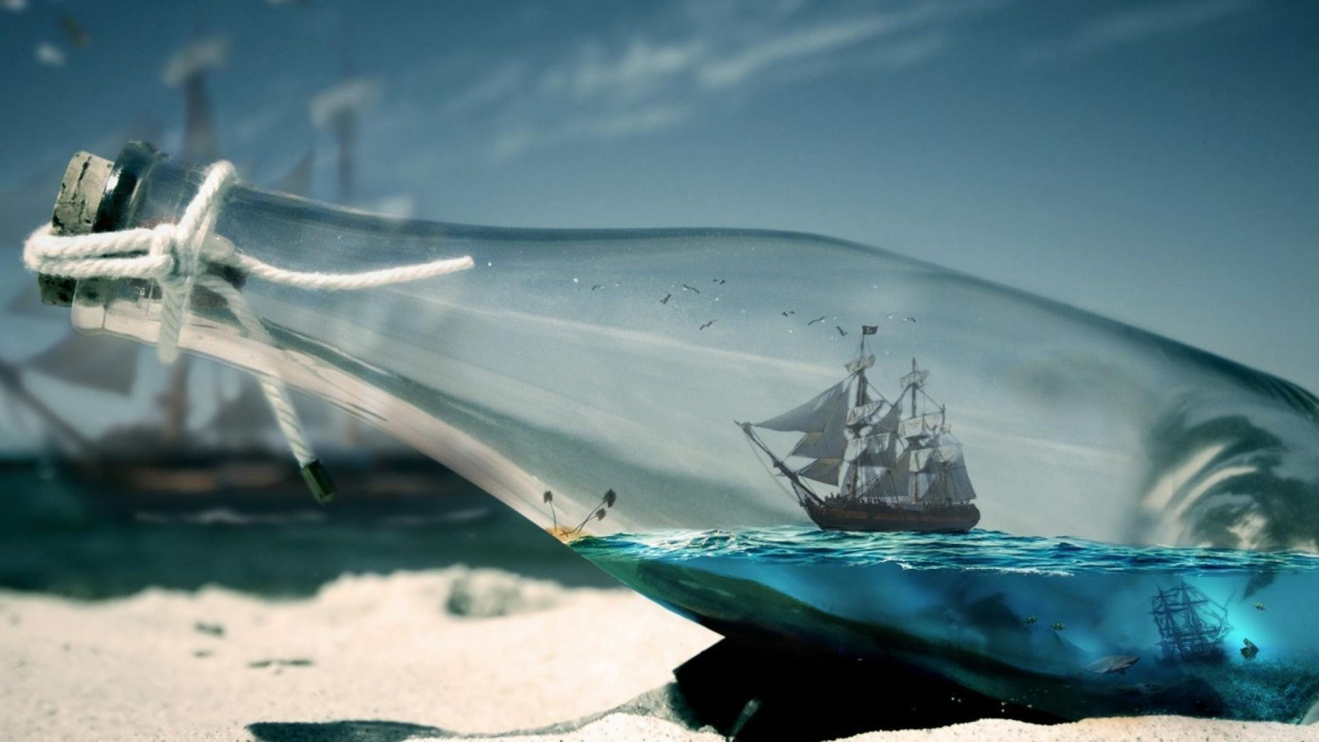 Ship in a Bottle(19201080) (With images) Beach pictures