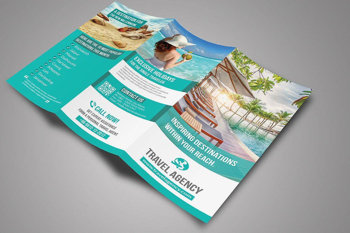 Travel Tri-Fold Brochure #size#psd#inches#File | Product Design
