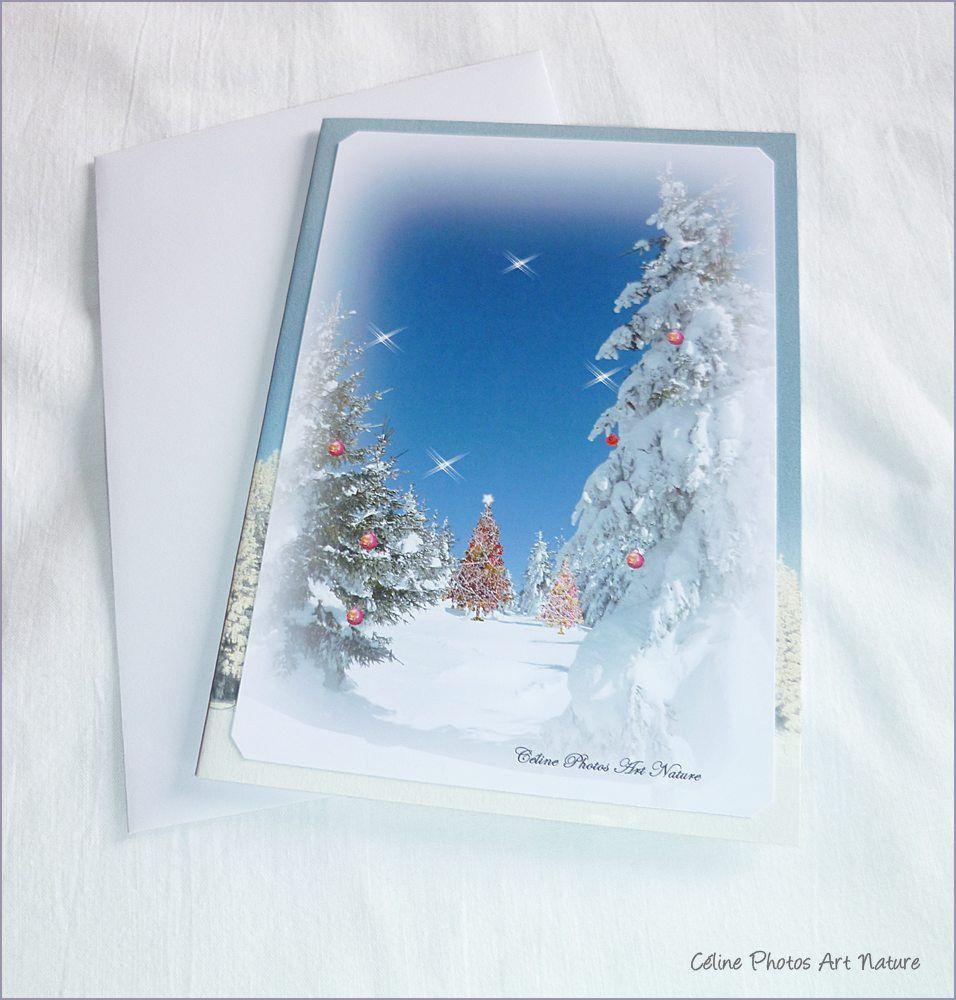 """Carte double faite main à partir de photos """"Amour de Noël """" 10,5x15cm de Céline Photos Art Nature : Cartes par celinephotosartnature"""