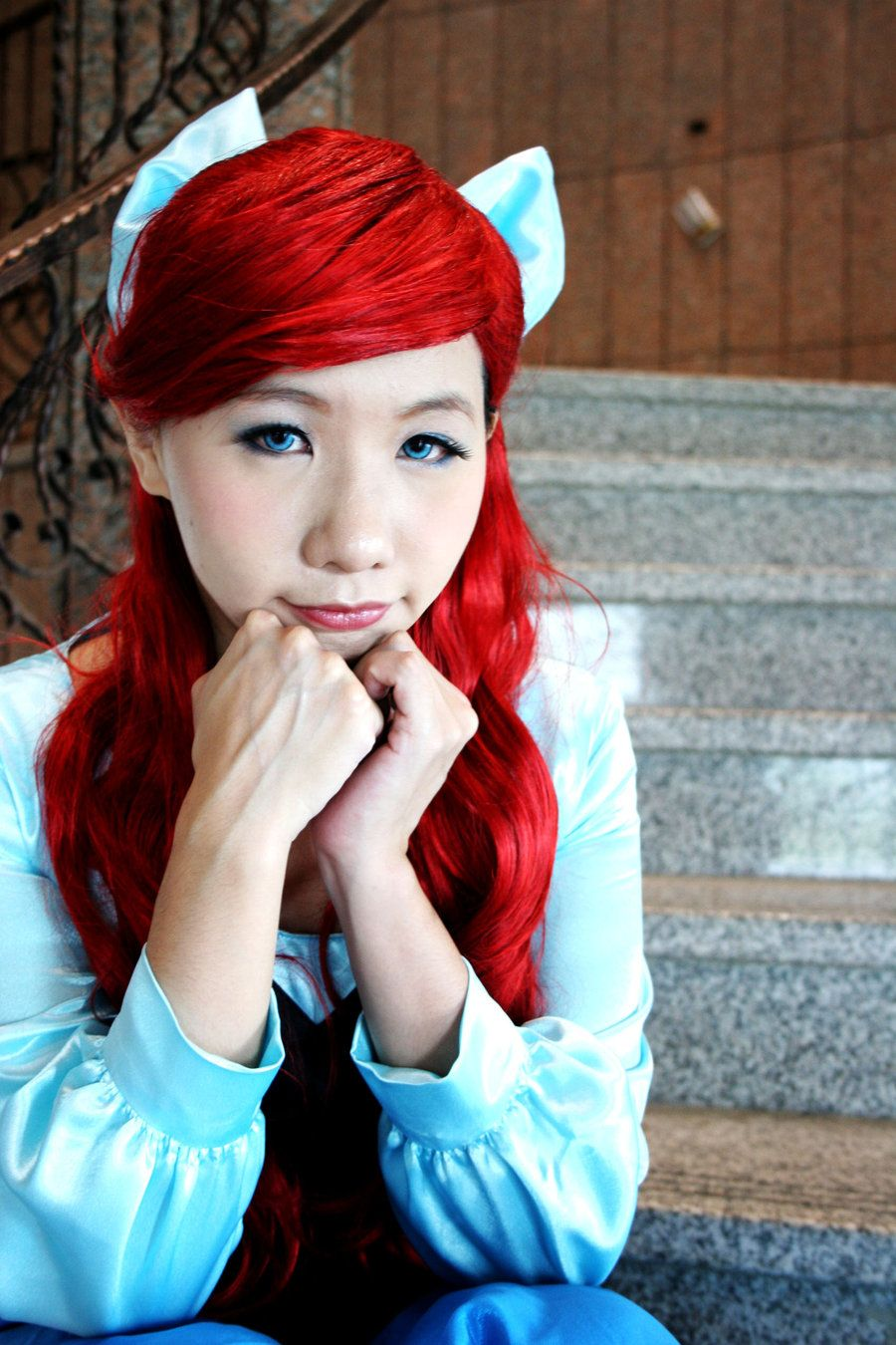 Ariel cosplay so cute hairstyles i like pinterest ariel and