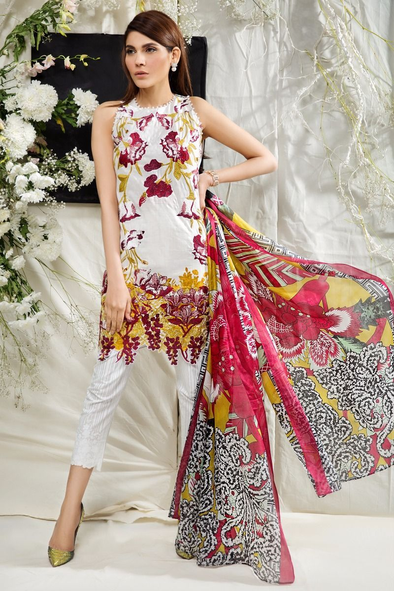 Dress style 2018 pakistani summer collection