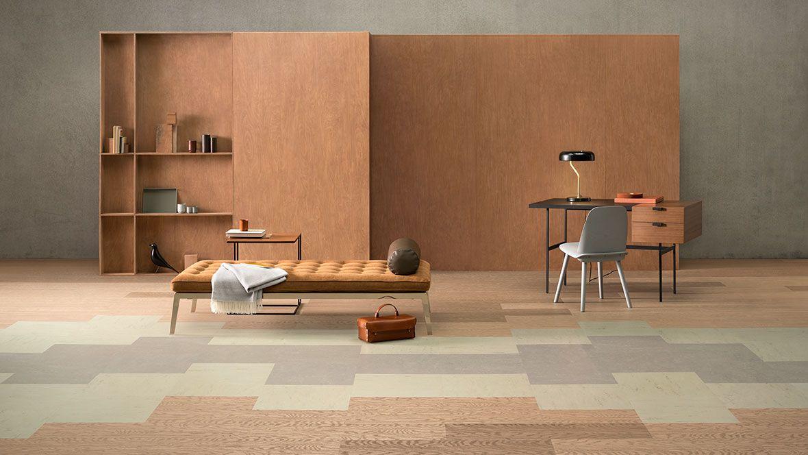 Marmoleum Modular Lines Natural Linoleum Tile Flooring Eco Building Products Marmoleum Marmoleum Floors Modular Tile
