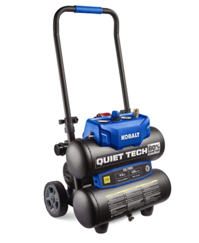 Kobalt quiet tech 43gallon portable quiet air