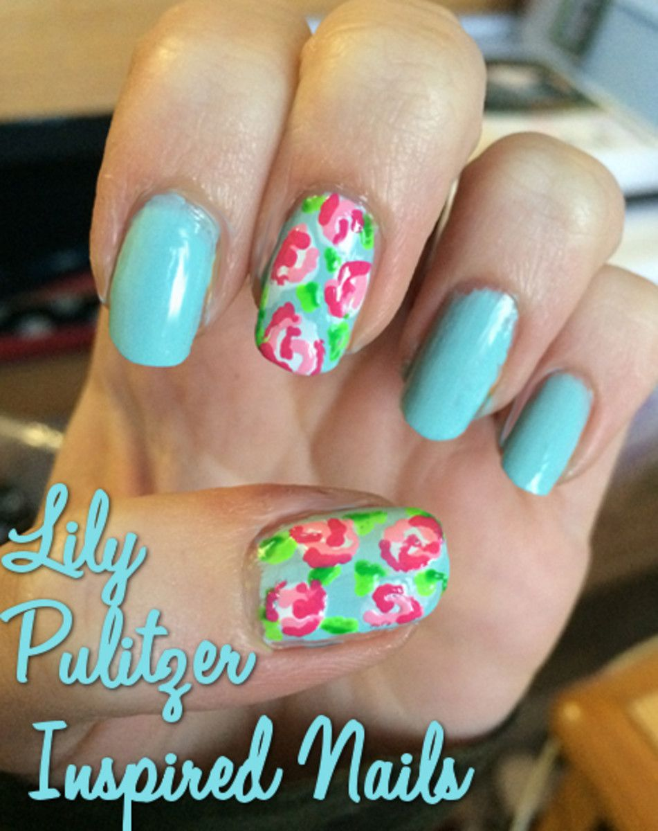 Nail Art Tutorial Lilly Pulitzer Inspired Nails Art Tutorials