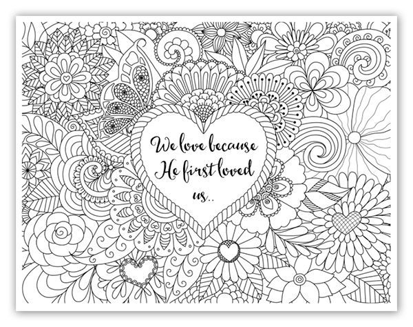 Growing through prayer for kids Bible verse coloring sheets - new love heart coloring pages to print