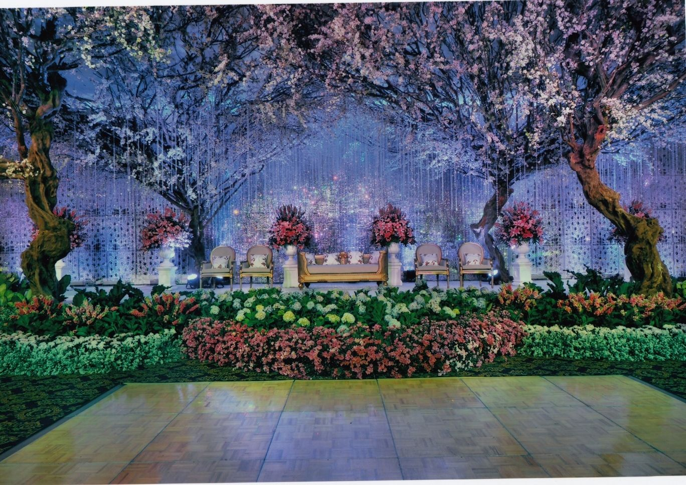 The wedding altar decorated like a fairy castle project by the wedding altar decorated like a fairy castle project by suryanto decoration http junglespirit Images