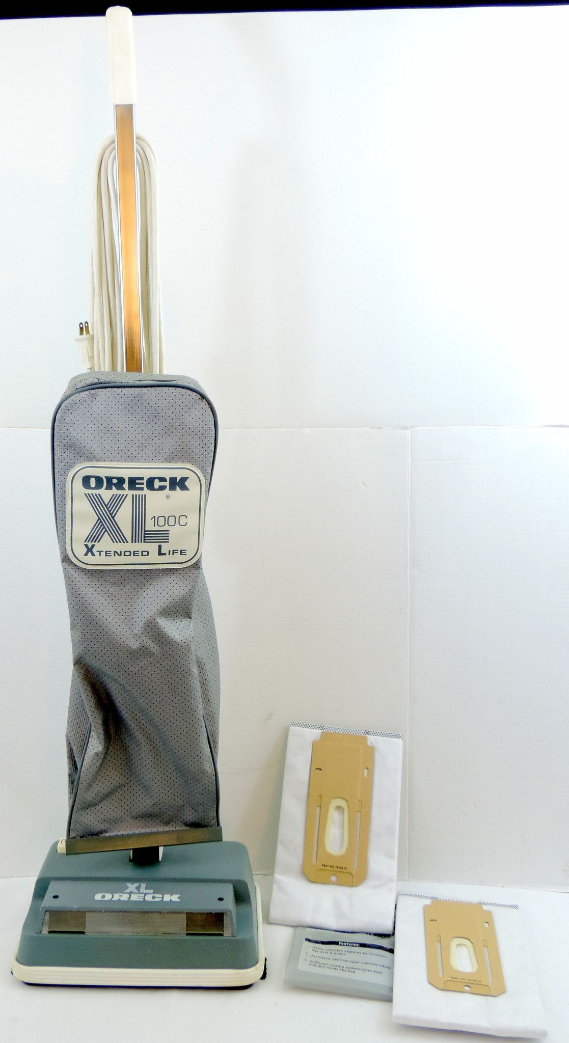 Oreck XL 100C Xtended Life Upright Vacuum Cleaner w/ Two