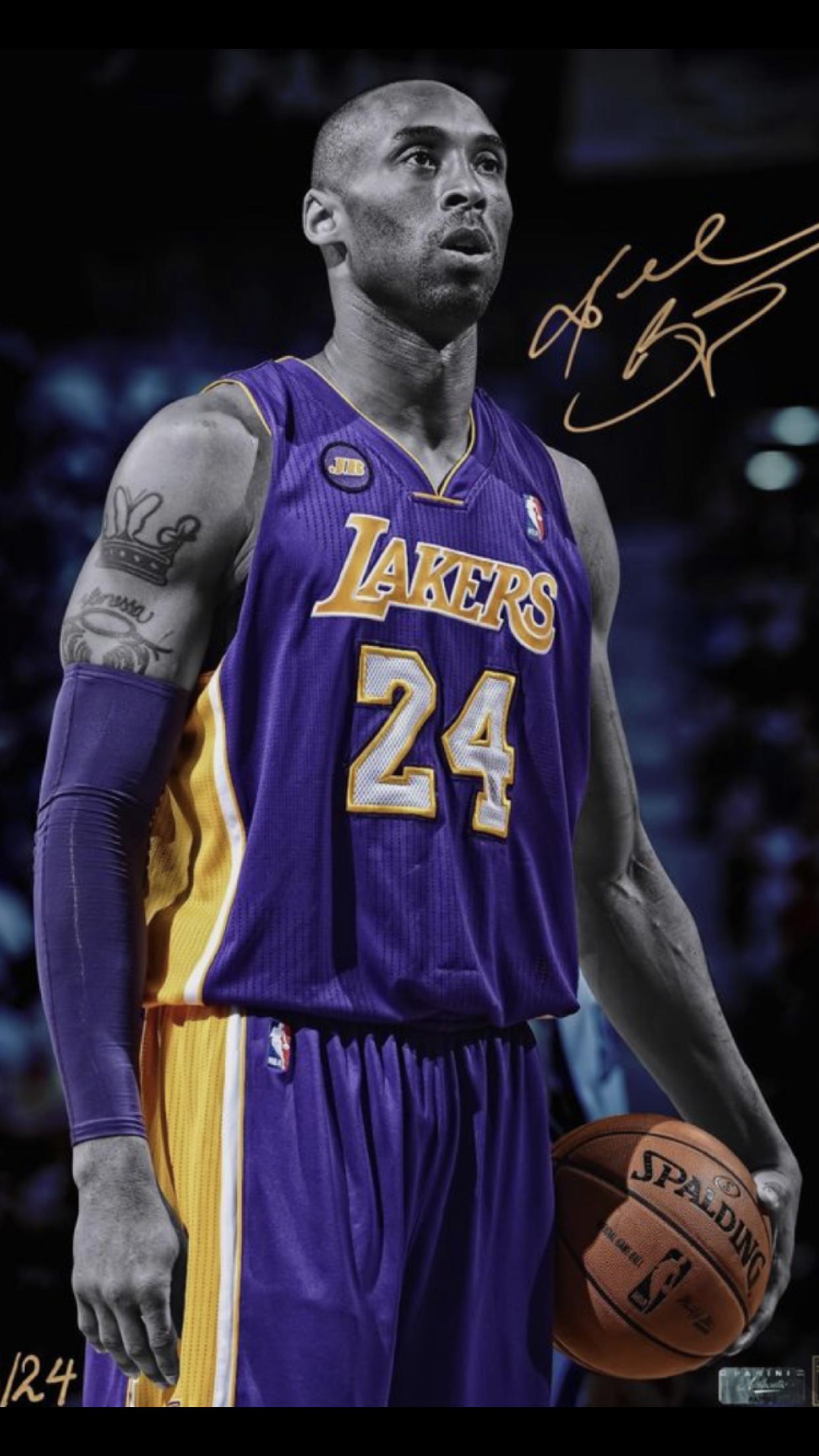Kobe Bryant Purple Jersey 8 Wallpaper