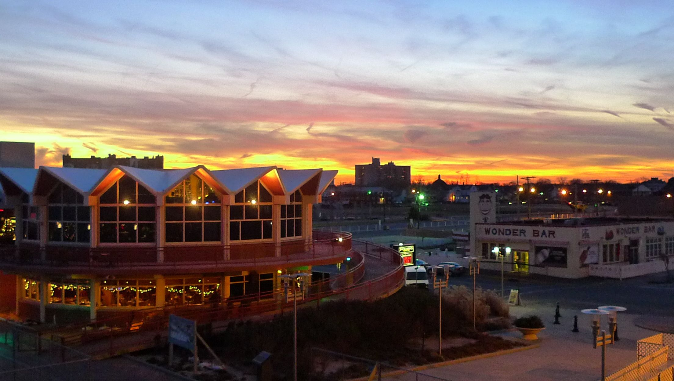 Sunset on the Asbury Park Boardwalk