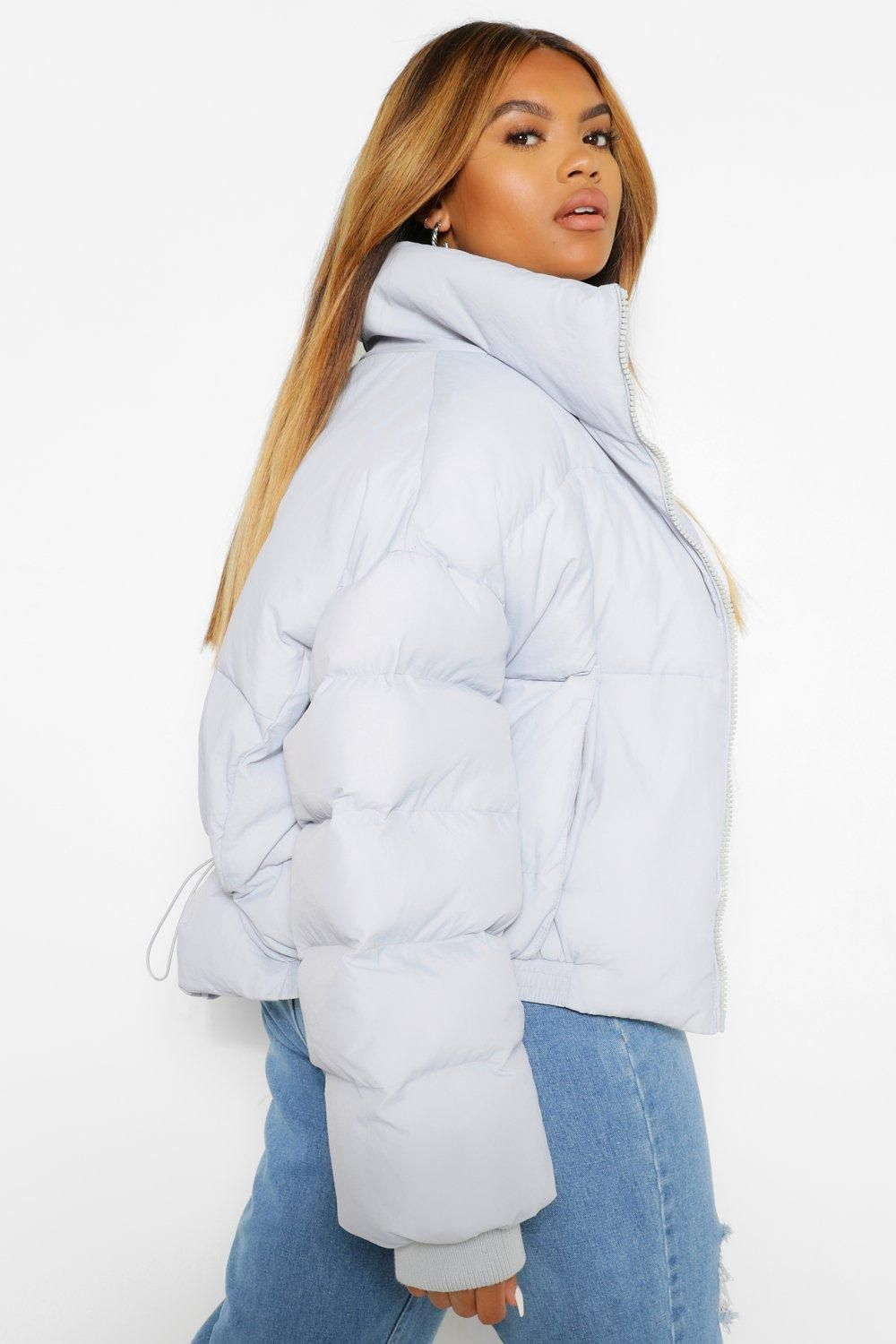 Plus Funnel Neck Cropped Puffer Jacket Boohoo Cropped Puffer Jacket Women S Puffer Coats Puffer Coat Outfit [ 1500 x 1000 Pixel ]