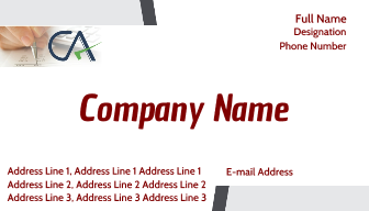 Online business visiting card for chartered accountant printasia online business visiting card for chartered accountant printasia reheart Gallery