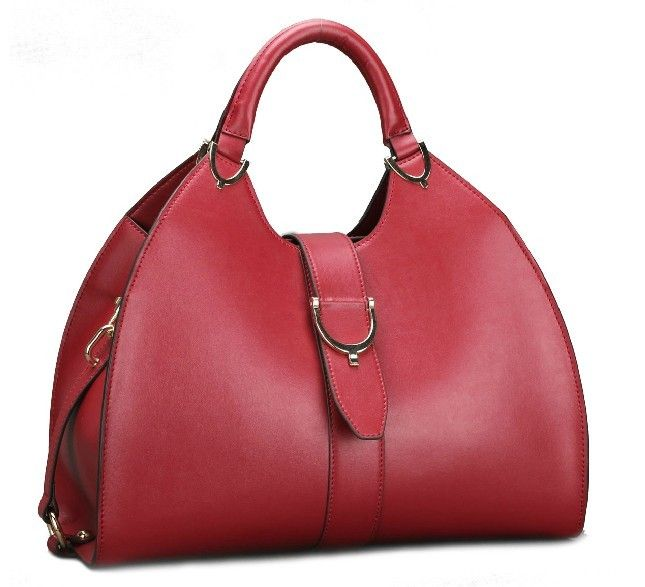 retro style genuine cow Leather Handbag