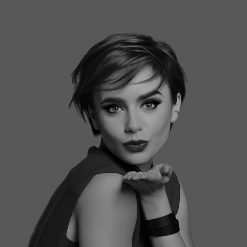 New Lily Collins ads for Lancôme