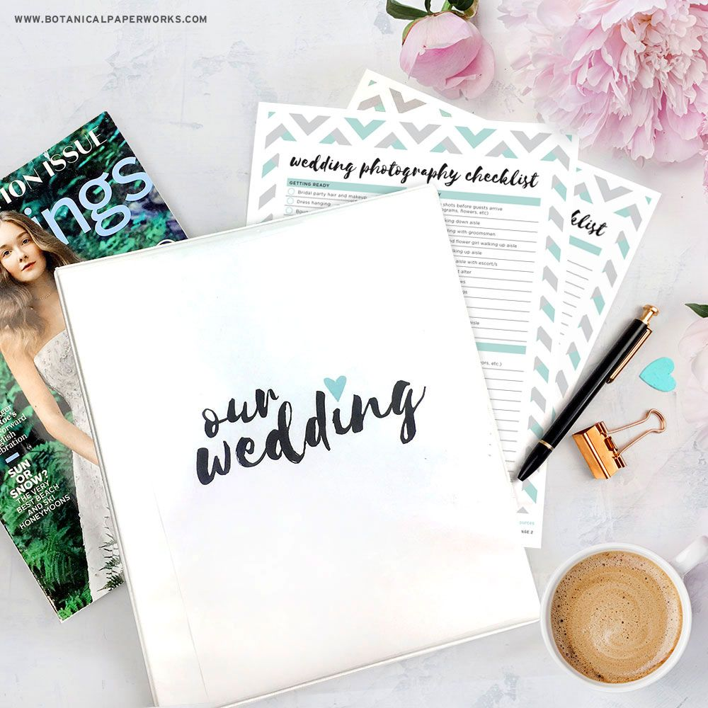 {free Printables} Wedding Planning Binder Download With