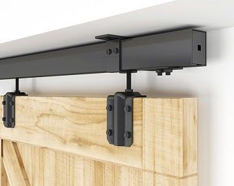 Magic 2 Wall Mount Concealed Sliding System For Wood Doors Etsy In 2020 Double Sliding Barn Doors Sliding Barn Door Hardware Barn Door Hardware
