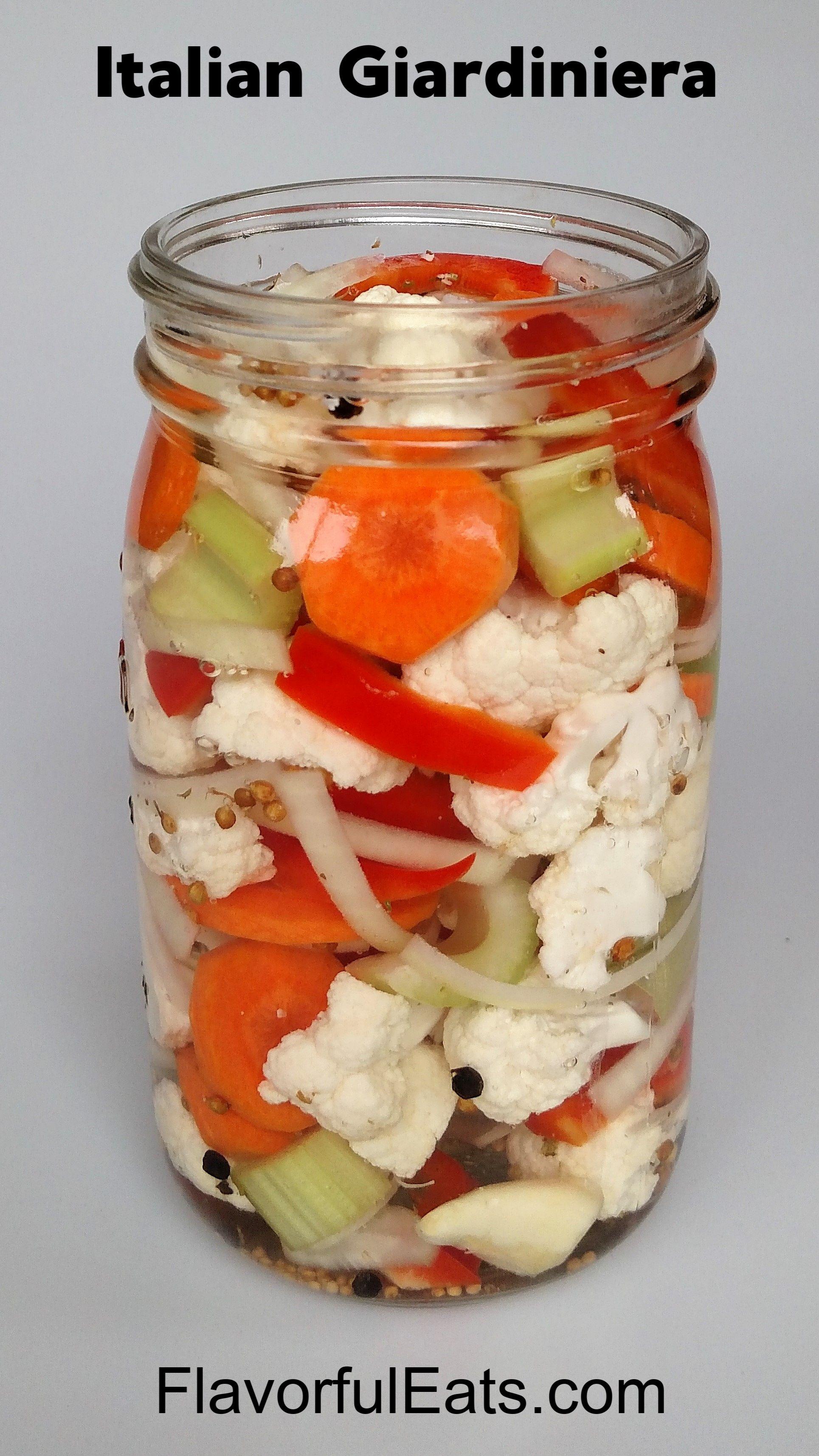 Italian Pickled Vegetables (Giardiniera) Recipe