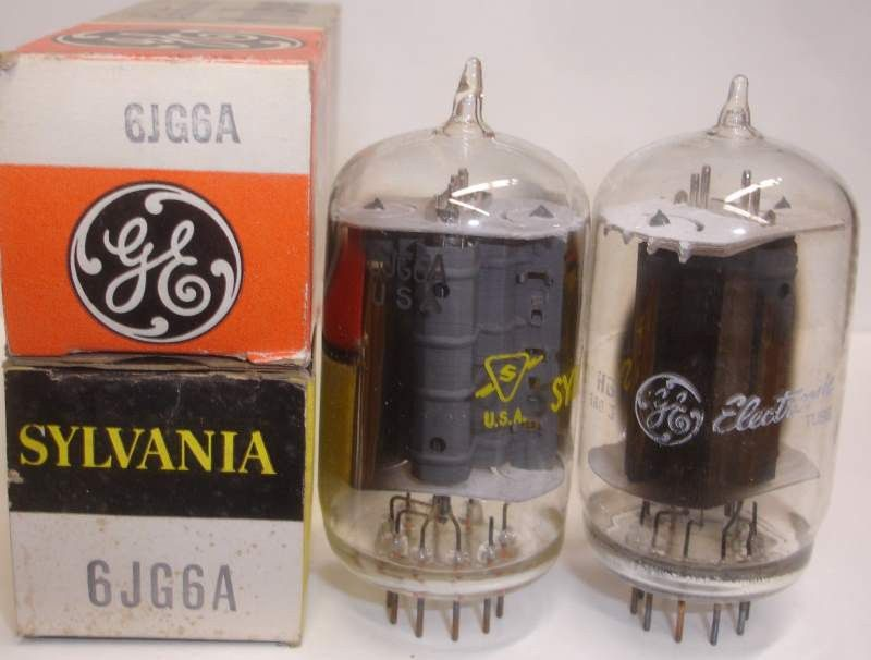 6JG6A Sylvania branded GE tipped top NOS (87ma) in 2019