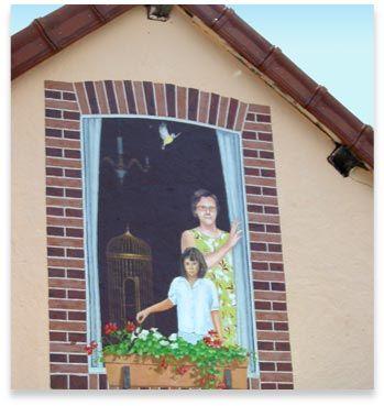 Trompe L Oeil Maison décoration en trompe l'oeil peint d'un mur de maison   ilusiones