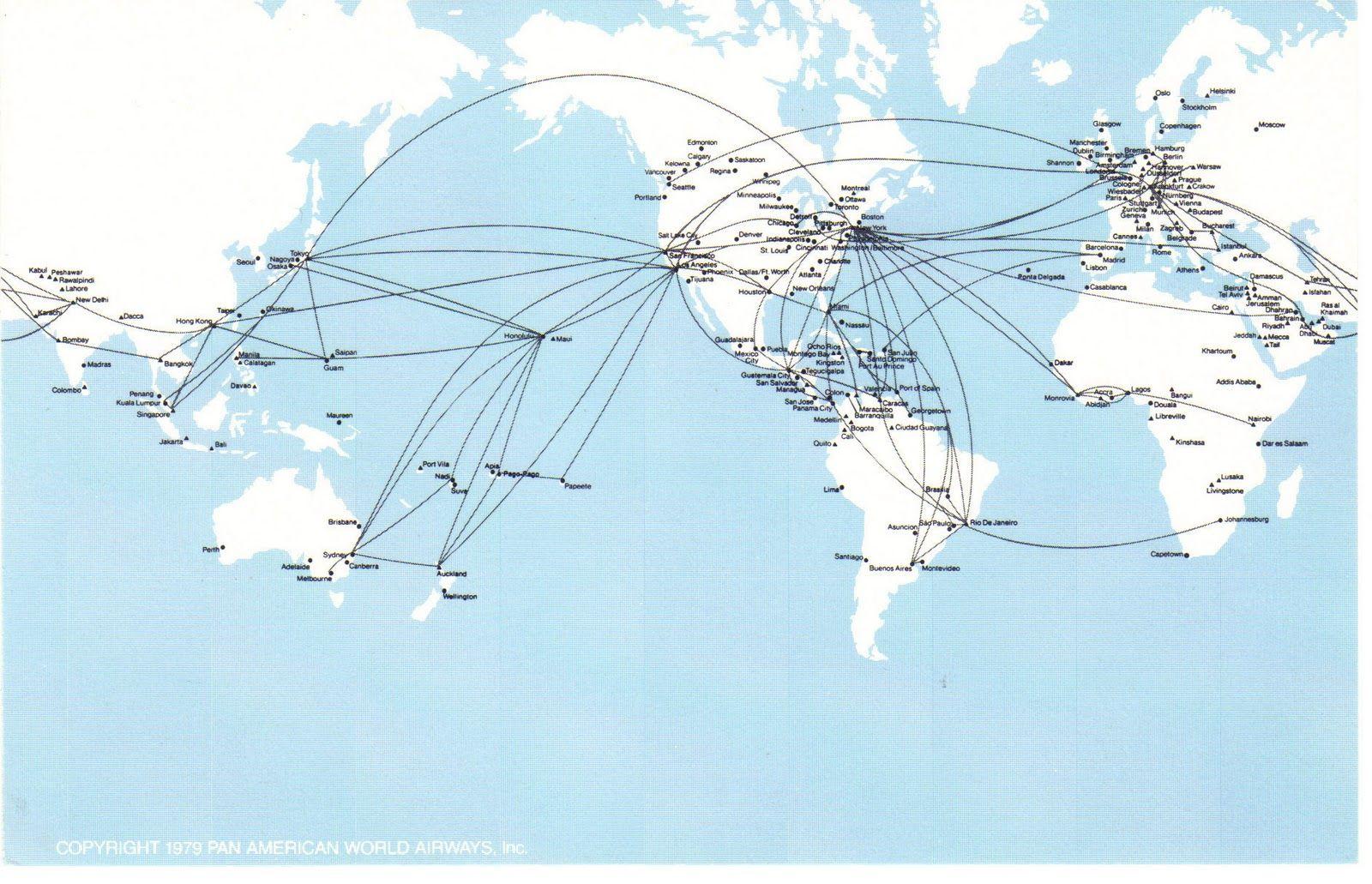 Panampostcardmapjpg Airline Routes Pinterest - Us airways europe route map