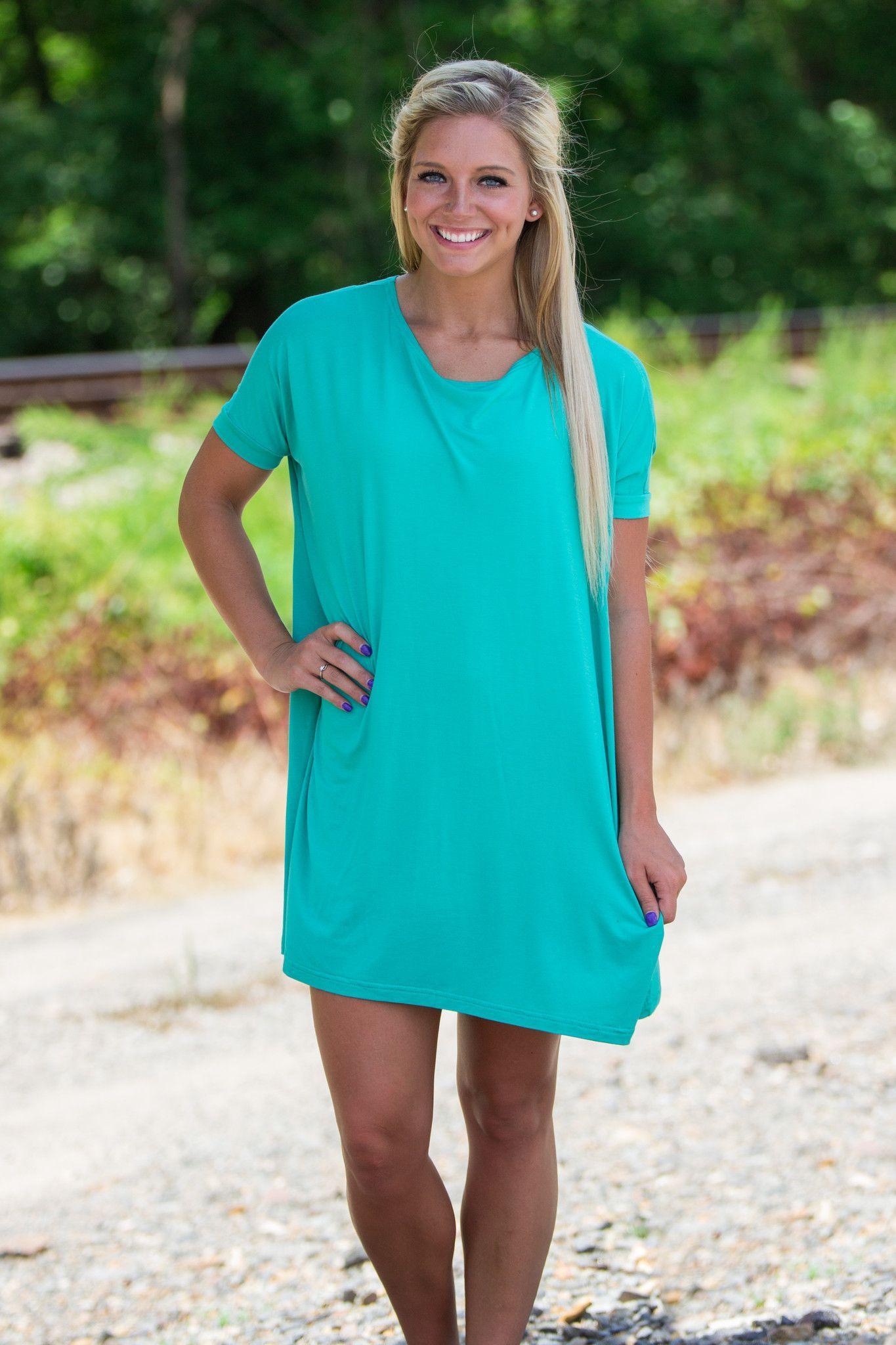 eb7aa50b10d Half Sleeve Piko Tunic - Light Green | Summer outfit | Sleeves, Half ...