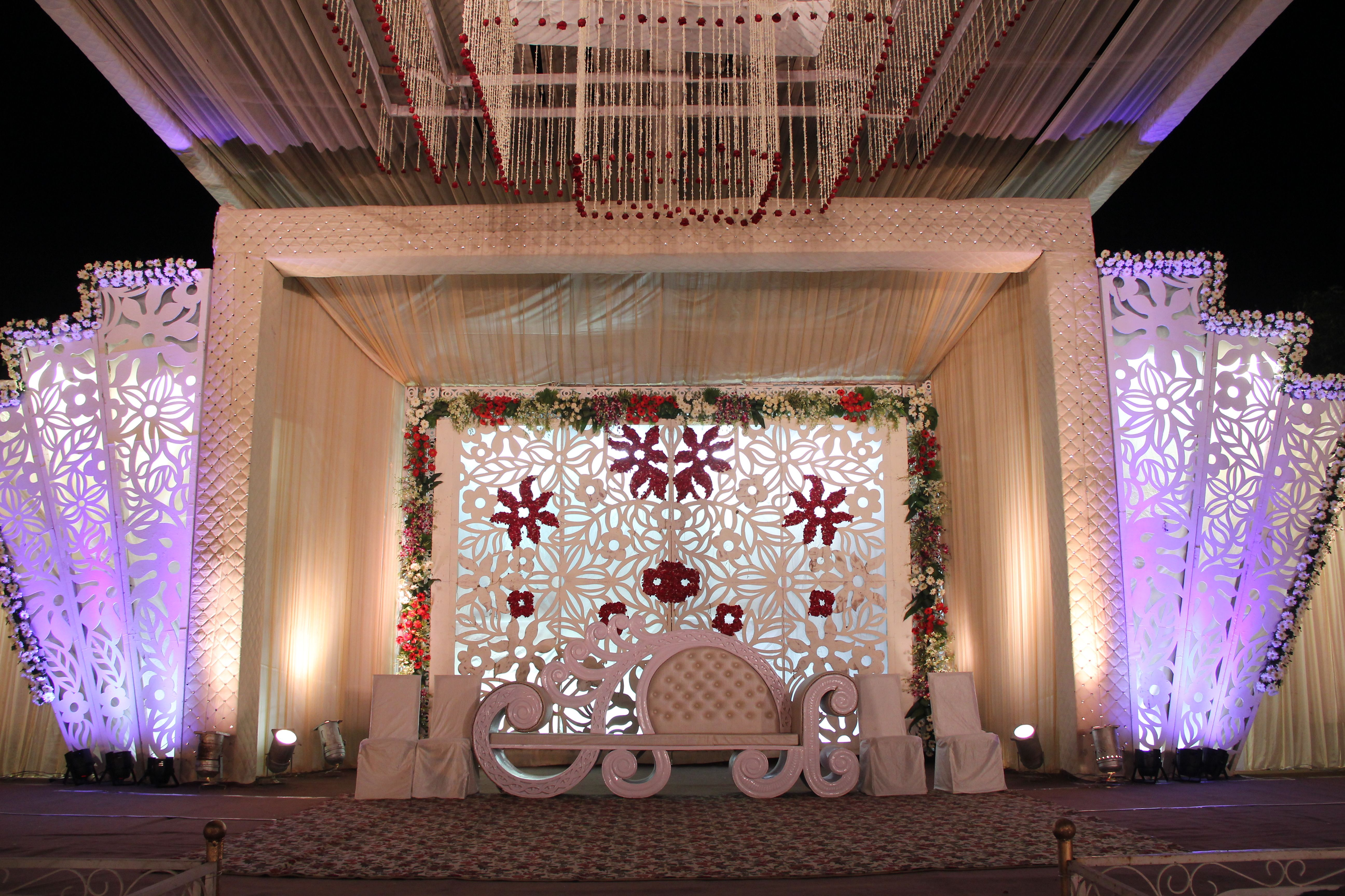 Awesome stage decorations all wedding preparations with perfect