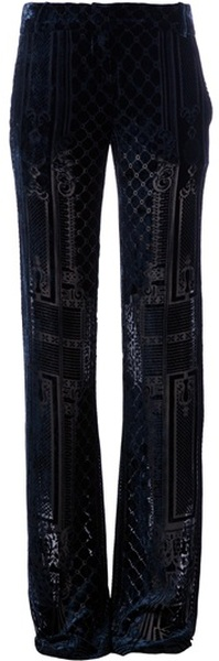 BALMAIN Brocade Wide Leg Trouser