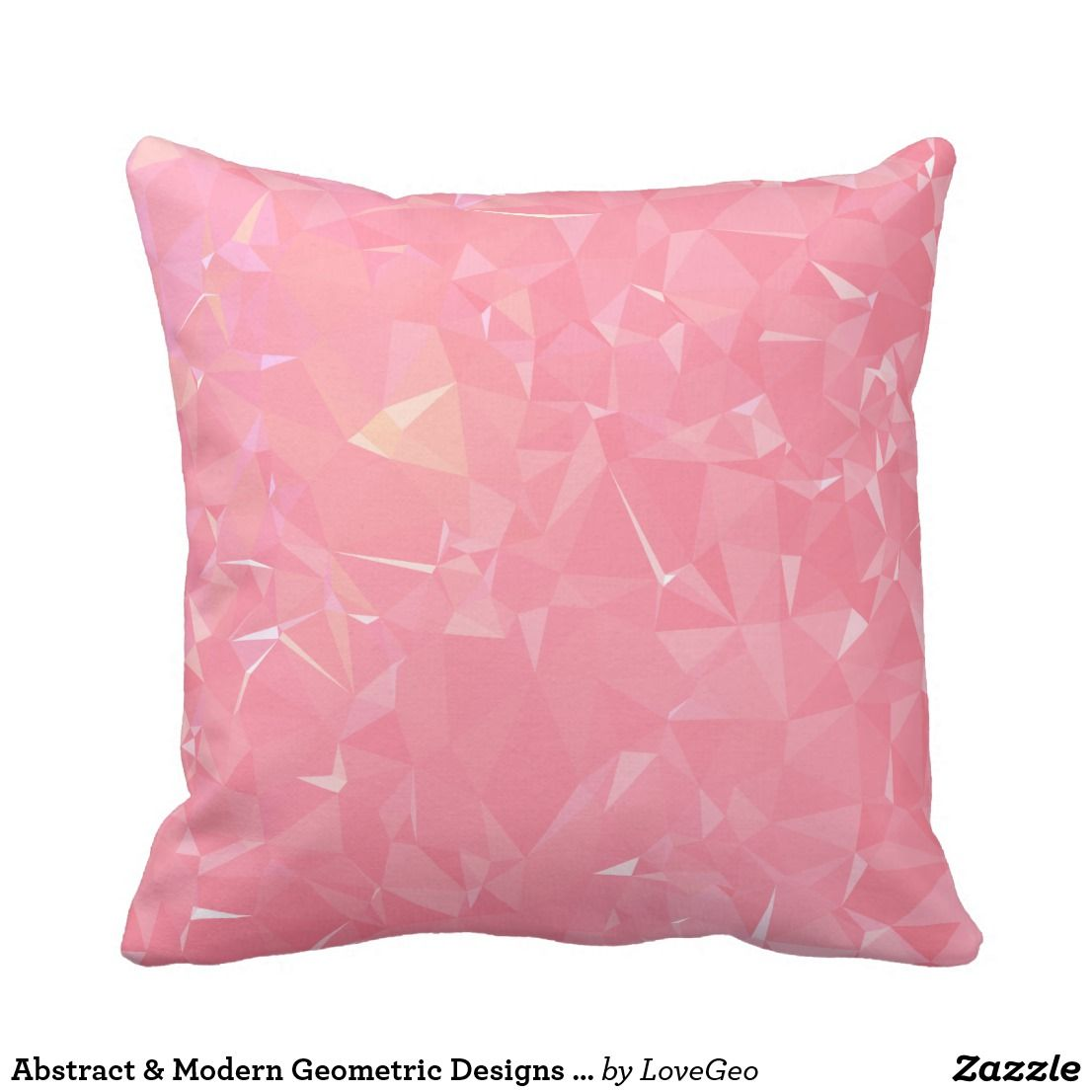 Abstract u modern geometric designs floral coral throw pillow