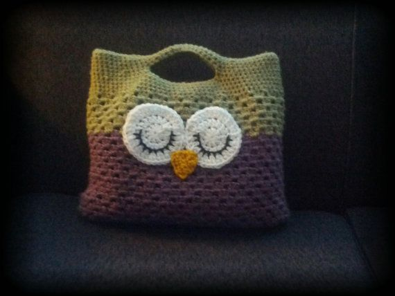 Crocheted Owl Bag Stitchesknots4tots Christmas Crafts Pinterest