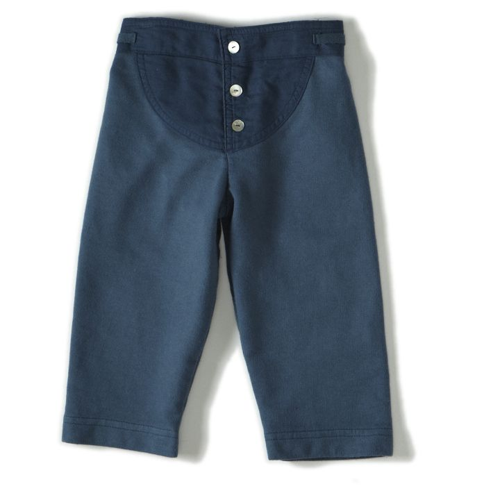 dagmar daley, sweatpants (blue) Sweat designed with a nod to the past—reminiscent of knickers—with button front, yoke design, side tabs and elastic waistband. Pure joy and comfort for active play or lounging around. For a cool blue relaxed ensemble, pair with matching Soren sweatshirt. 100% cotton.