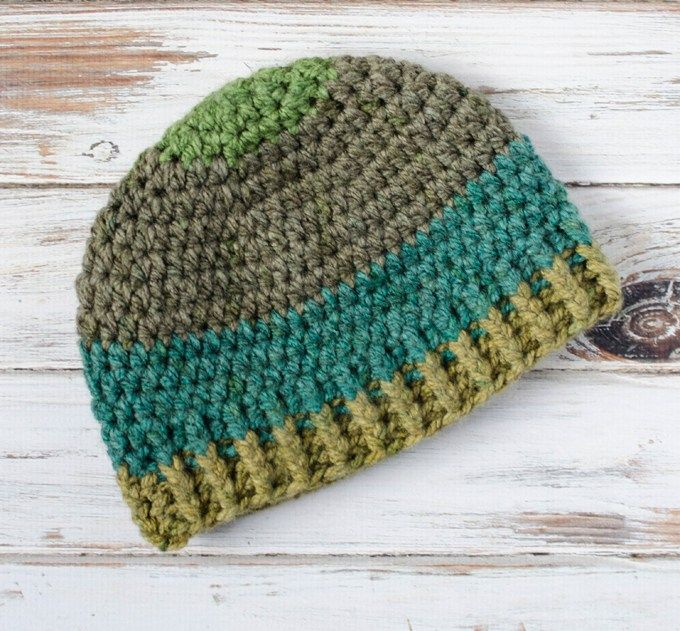 34d3586f283 Crochet Men s hat pattern!! Use super bulky yarn to make this fun crochet  men s beanie hat.