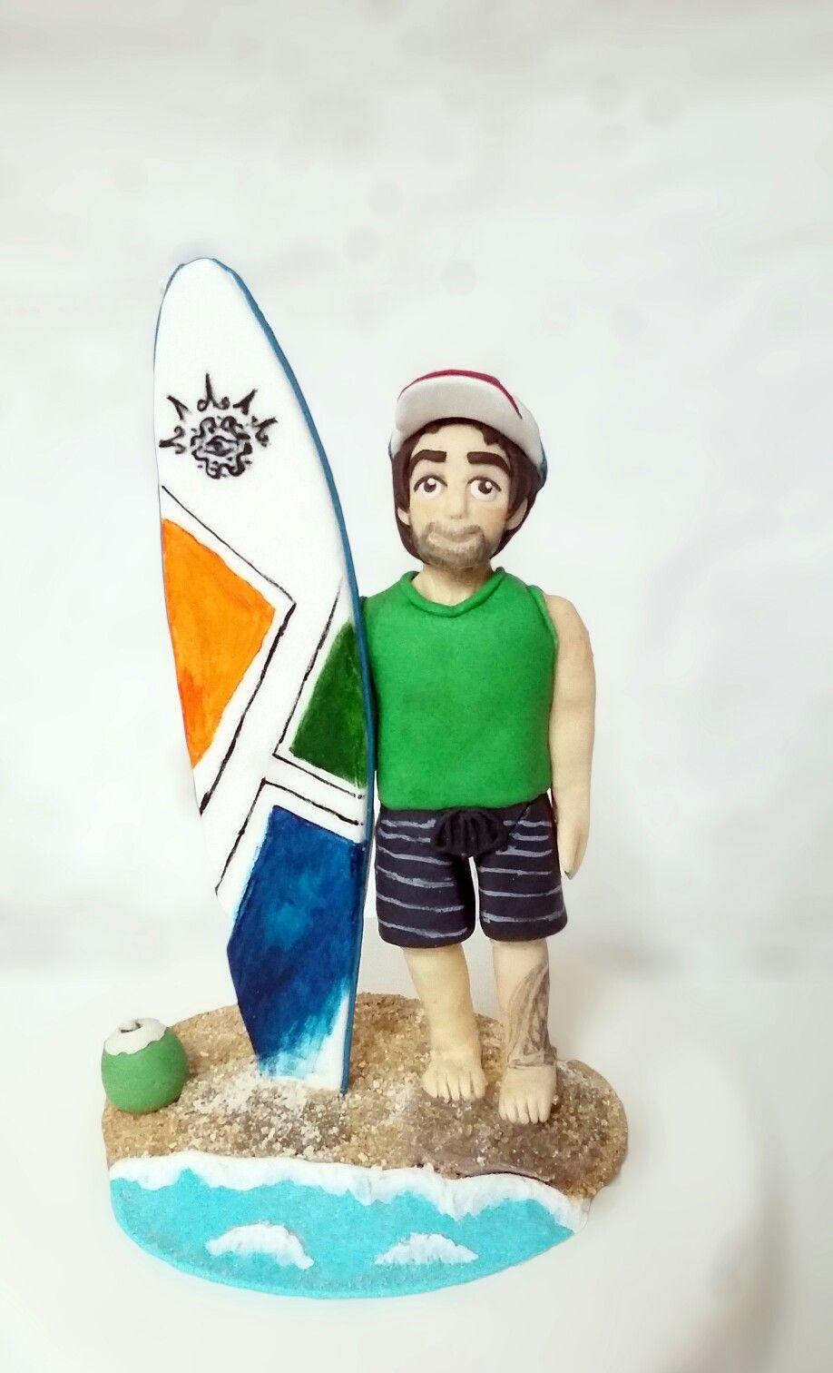Surf boy gumpaste | surfista