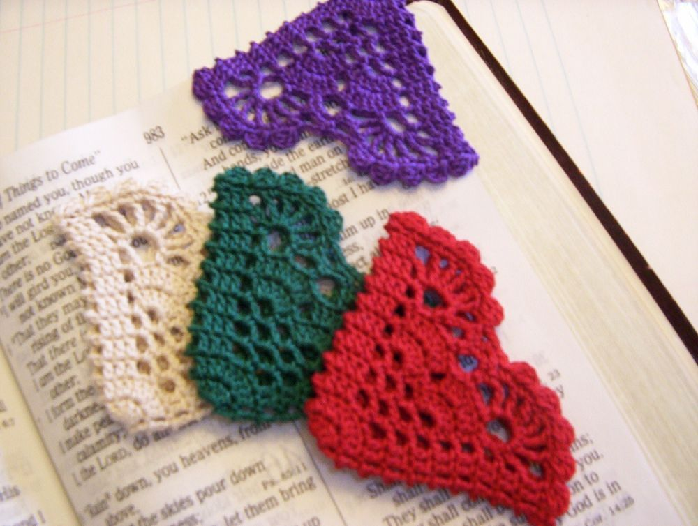 Crochet Bookmark, Page Corner, COLOR CHOICES | Diy ideen ...