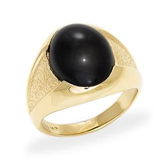 Black+Coral+Ring+in+14K+Yellow+Gold