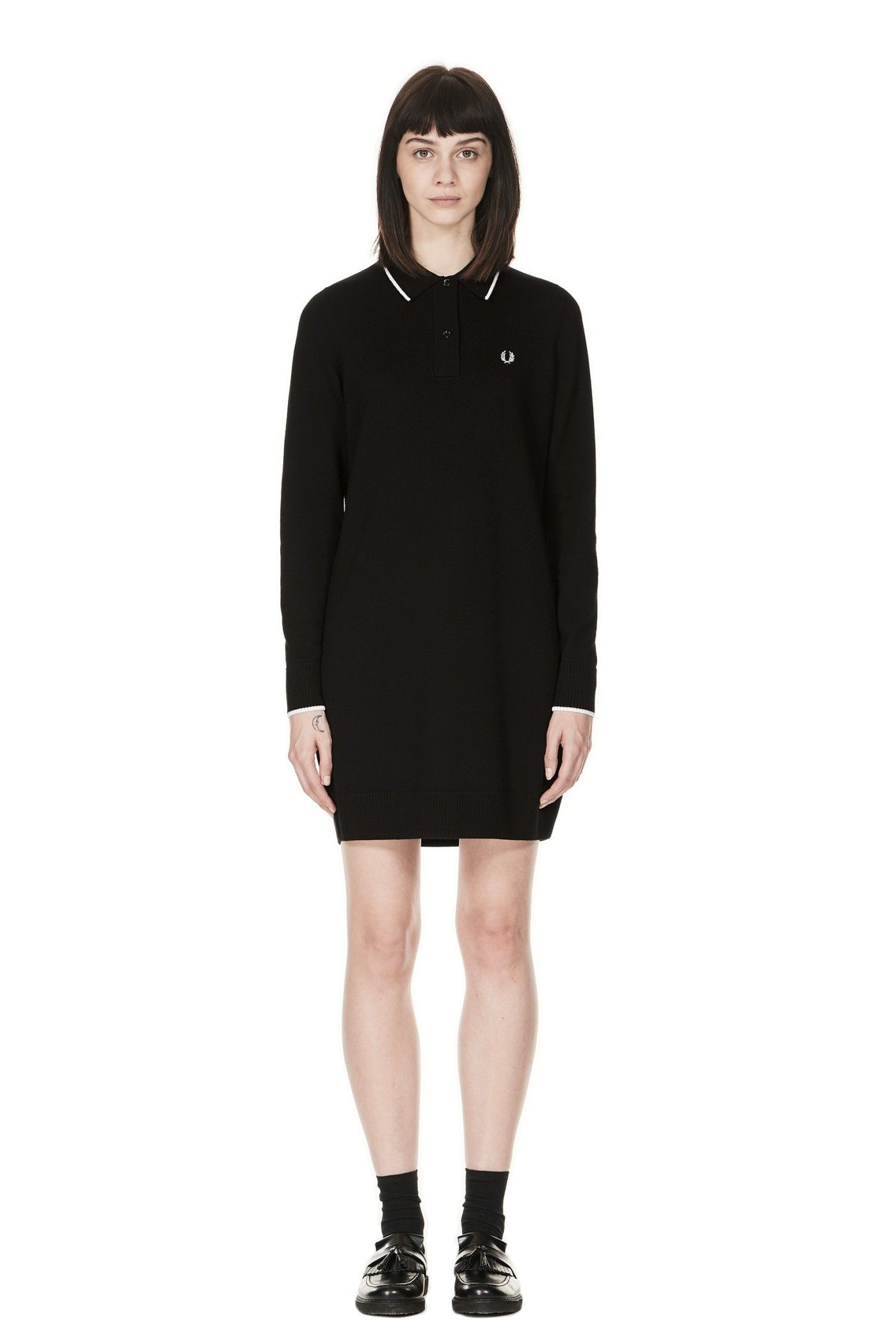 Knitted Fred Perry Dress Black   tout c que je veux   Pinterest   Je ... bdf738b79203