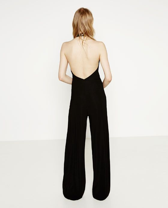 halter neck jumpsuit zara my style pinterest. Black Bedroom Furniture Sets. Home Design Ideas