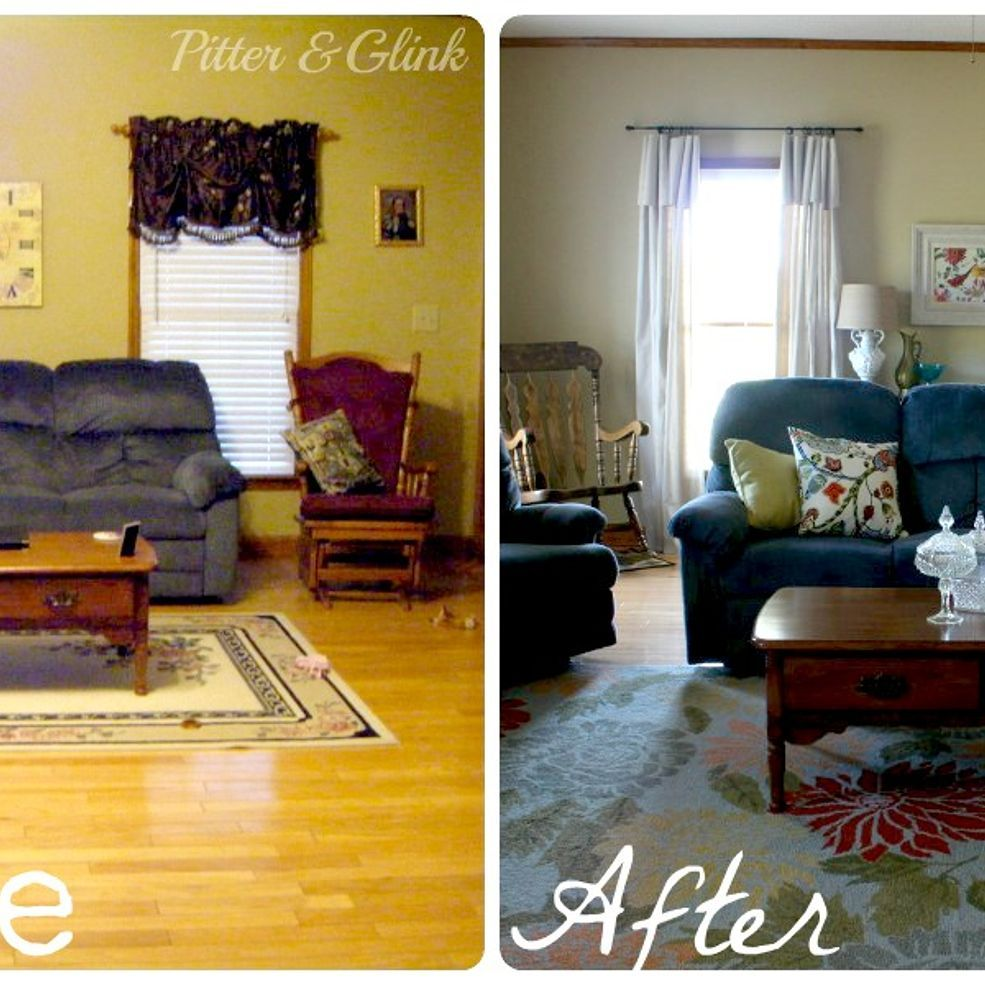 Living Room Makeover Without Paint Or New Furniture