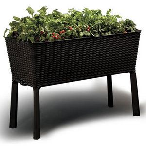self-watering rattan raised planter - saw at bj's | cool stuffs