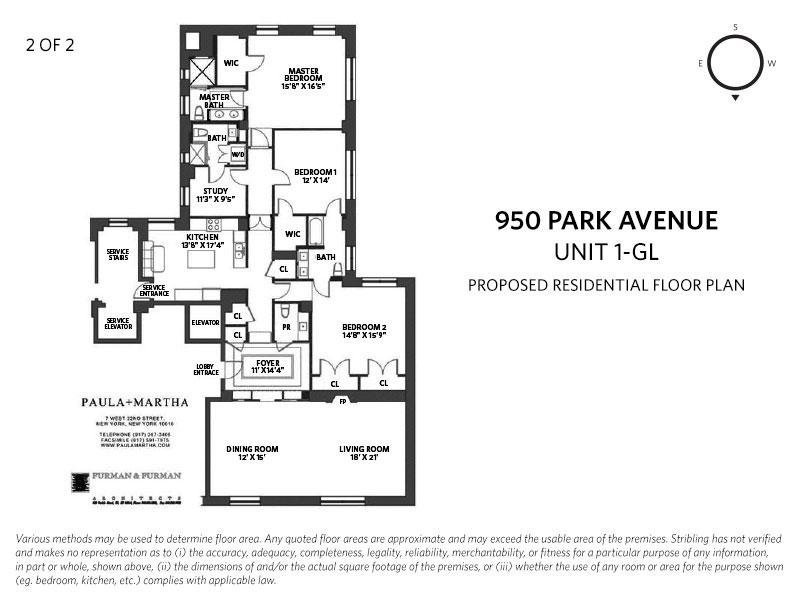 950 Park Avenue 1gl New York Ny 10028 Sales Floorplans Property Records Realtyhop Floor Plans Property Records Park Avenue