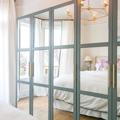Ikea Hack Use A Mirrored Cabinet And Add Lattice Wood
