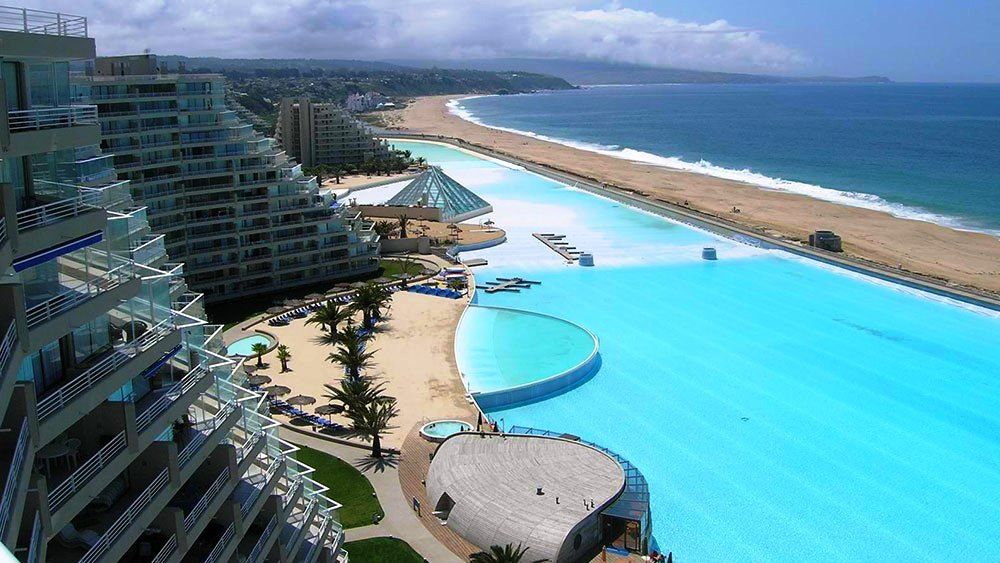 San alfonso del mar resort in algarrobo chile home to the world 39 s largest swimming pool the for San alfonso del mar swimming pool