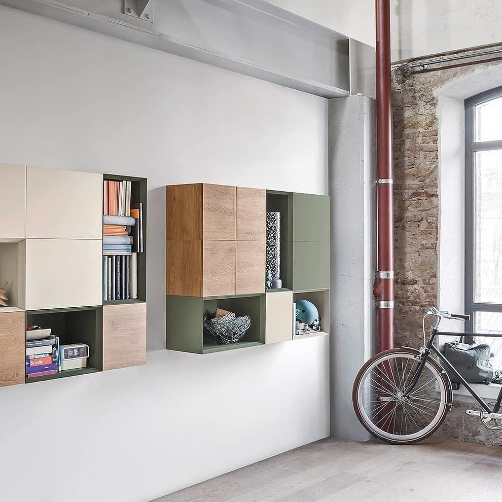 Der Moderne Wandschrank Von Novamobili Mit Unterschiedlich Grossen