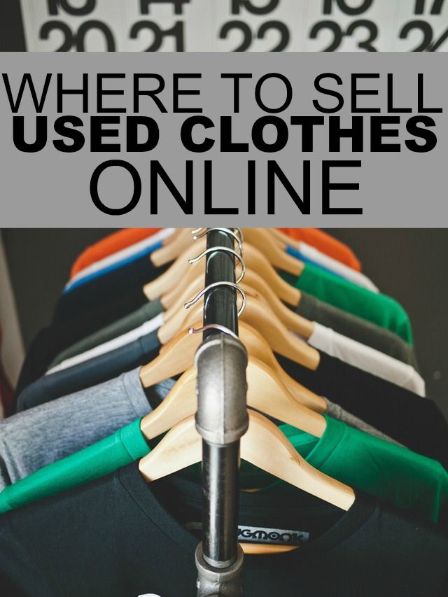 Where to Sell Used Clothes Online Selling used clothes