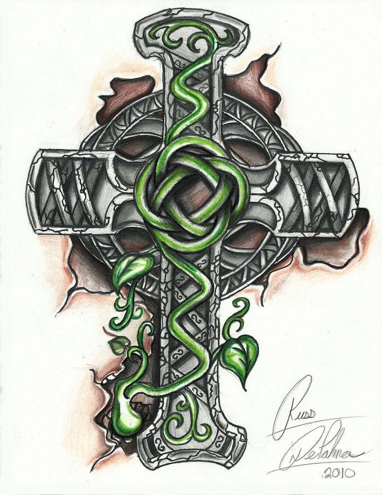 Celtic Cross Tattoo Designs Girl Skull And Bones Cross Cross